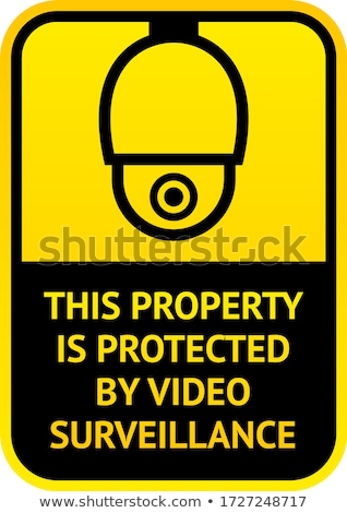 Notice Video cctv symbol sticker for print. Stock photo © Ecelop