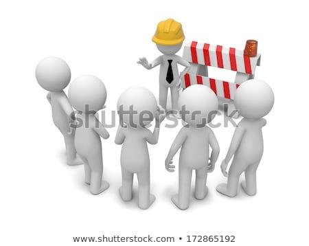 Cartoon strada lavoratore idea illustrazione persona Foto d'archivio © cthoman