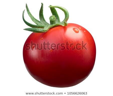 Stock photo: Marglobe ripe tomato, paths