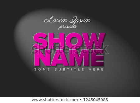 Flyer sjabloon groot roze brieven spotlight Stockfoto © orson