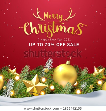 Christmas Tree With Gifts Vector. Merry Christmas And Happy New Year. Isolated Illustration Stock photo © pikepicture
