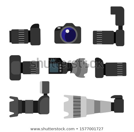 foto · studio · ingesteld · vector · moderne · zwart · wit - stockfoto © robuart