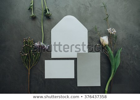 wedding floristics and details wedding invitations on floor stock photo © ruslanshramko