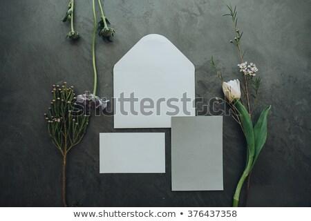 Boda detalles invitaciones piso ramo broche Foto stock © ruslanshramko