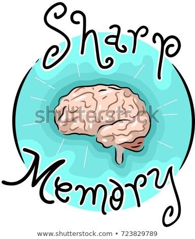 Fuerte memoria icono ilustración cerebro salud Foto stock © lenm