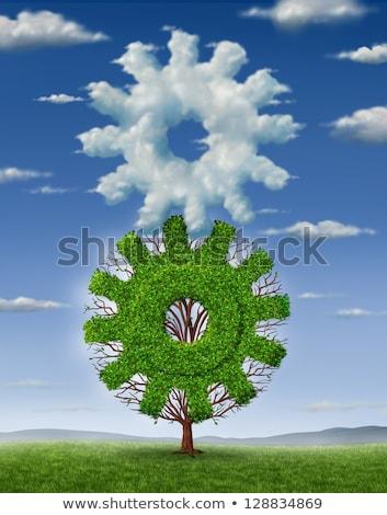 artes · nubes · dos · artes · cielo · azul - foto stock © make