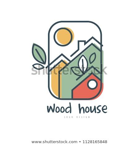 eco house leaf clean ecology home logo icon stock photo © blaskorizov
