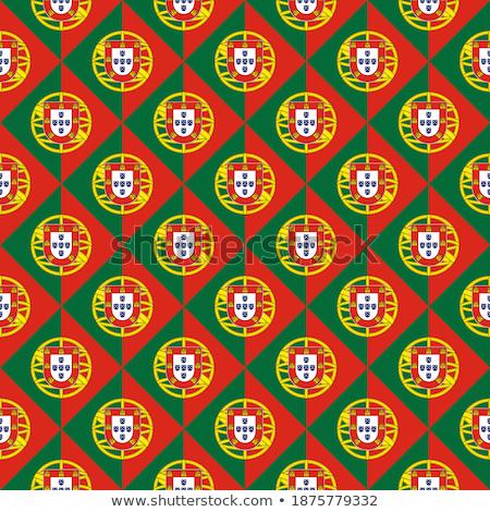 Bayrak Portekiz kare kâğıt örnek dizayn Stok fotoğraf © colematt