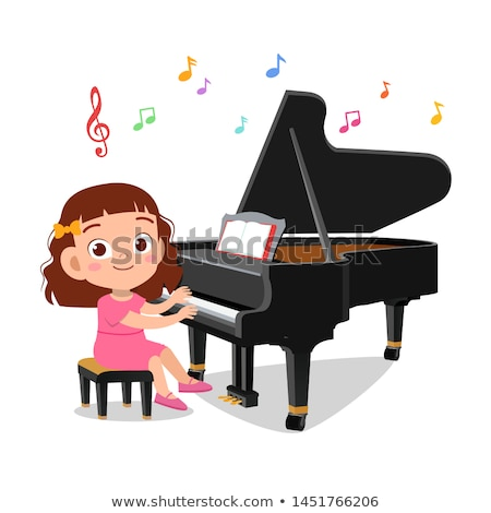 少女 演奏 ピアノ 実例 子供 小さな ストックフォト © artisticco