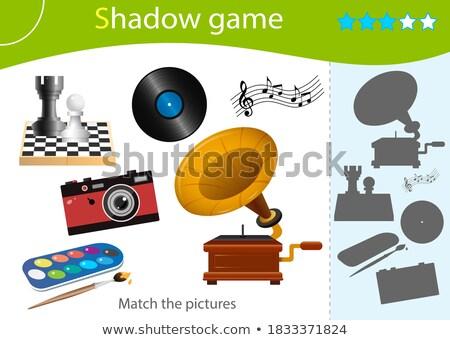 Circus schaduw matching spel sjabloon illustratie Stockfoto © colematt