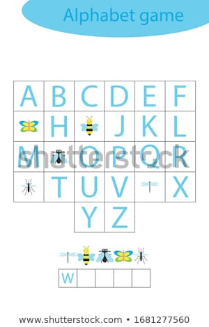 Spelling word scramble game with word butterfly Stock photo © colematt