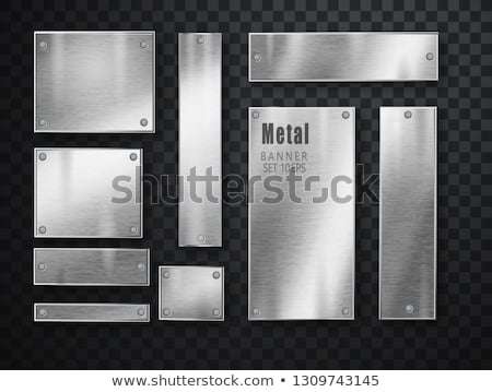 métal · chrome · acier · plaque · isolé · transparent - photo stock © Fosin