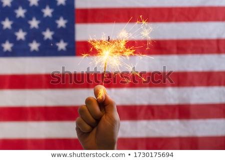 стороны бенгальский огонь Новый год вечеринка сжигание Сток-фото © unkreatives