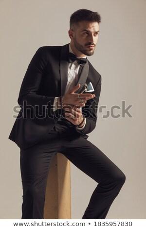 uomo · immagine · maschio · mago · guardando - foto d'archivio © feedough