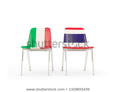 two chairs with flags of italy and thailand stock photo © mikhailmishchenko