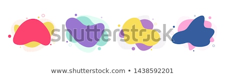 abstract halftone pattern banners in different colors Stock photo © SArts