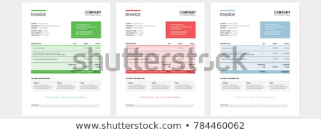 professional red invoice template design Stock photo © SArts