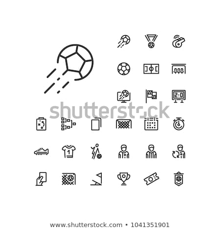 Sportsmen Running with Ball, Football Icon Vector Stock photo © robuart