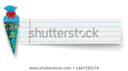 vissza · az · iskolába · ráncos · papír · vektor · eps · 10 - stock fotó © limbi007