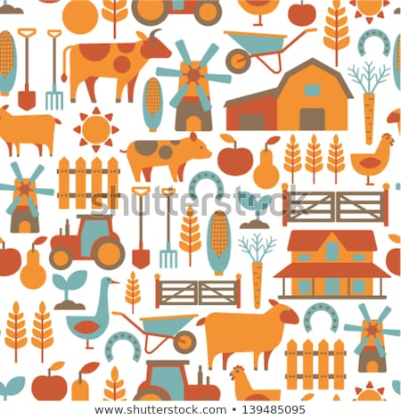 Seamless pattern with farm related items Stock photo © netkov1