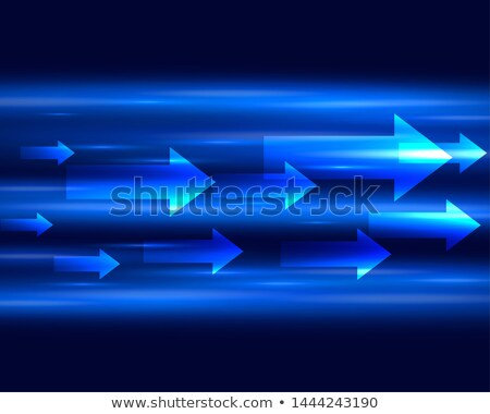 blue light streak with arrows moving forward background Stock photo © SArts