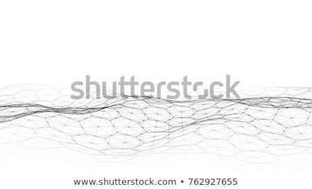 abstract low poly mesh lines white background stock photo © sarts