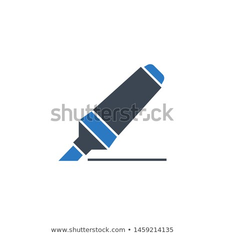 Marker Pen related vector glyph icon. Stock photo © smoki