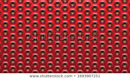 Red and Black Embossed Spaced-out Hexagon Background Vector Illu Stock photo © cidepix