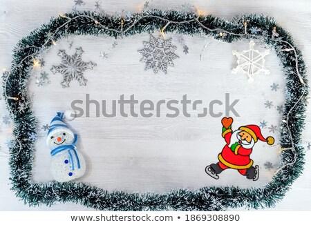Рождества · украшение · праздник · Дед · Мороз · снеговик · снега - Сток-фото © Freedomz