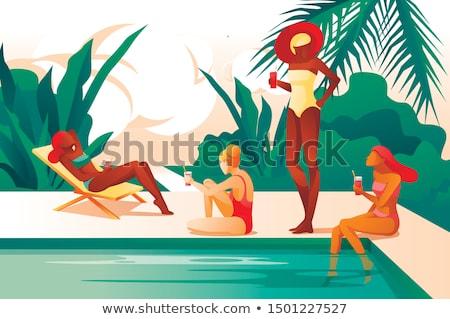 旅行 · 女性 · 眼鏡 · 観光 · 少女 · 休暇 - ストックフォト © robuart