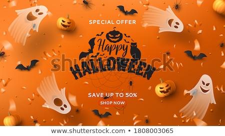 Halloween oranje vliegen ontwerp achtergrond nacht Stockfoto © SArts