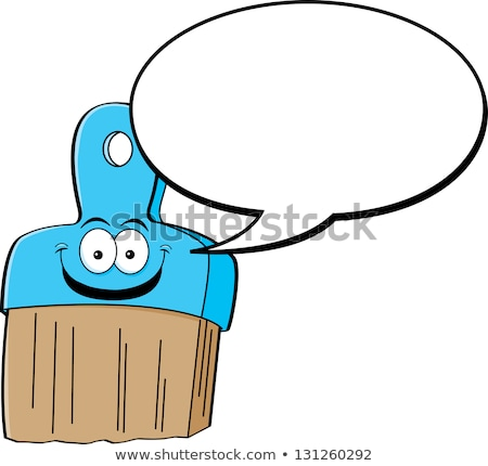 Cartoon paintbrush with a caption balloon Stock photo © bennerdesign