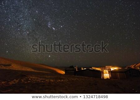 Kempingezés Afrika vadon csillagos ég folyó kicsi Stock fotó © artush