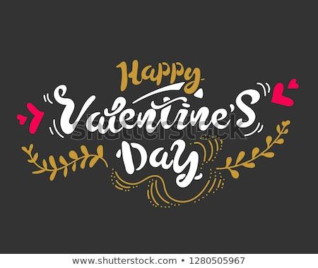 Valentine's greeting card from hearts diagonal pattern. Stock photo © artjazz