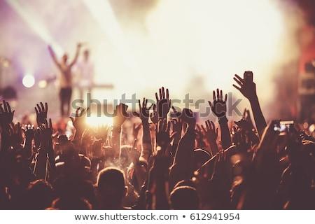 Siluet festival olay kalabalık mavi parti Stok fotoğraf © elaine