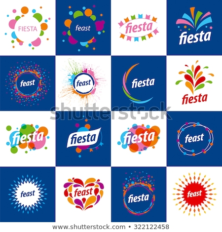Abstract logo for the Fiesta. Vector illustration. Stock photo © butenkow