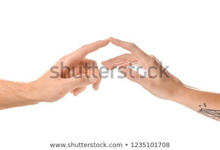 Two hands, coupled by fingers Stock photo © Paha_L