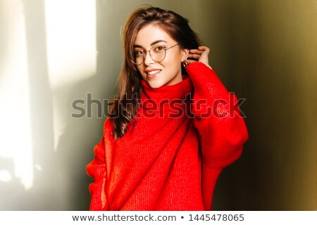 woman with red hat and apple stock photo © photography33