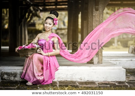 asian woman in songkran festival Stock photo © smithore