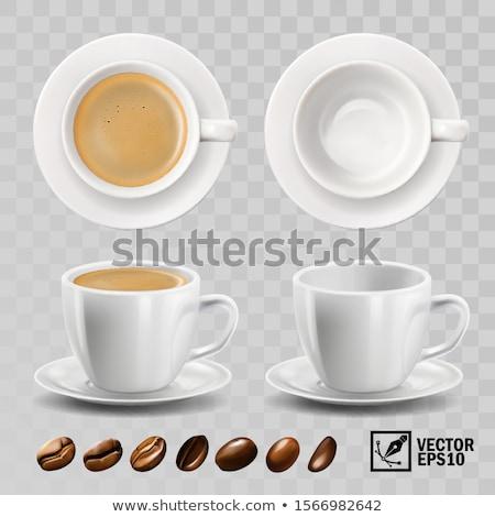 Eszpresszó csészék szerkeszthető izolált kávé piros Stock fotó © PilgrimArtworks