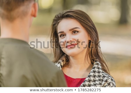 Man aantrekkelijke vrouw park vrouw liefde bos Stockfoto © photography33