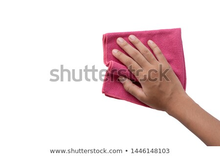 hand holding cleaning cloth Stock photo © prill