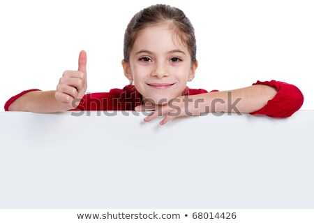 girl with panel and thumb up stock photo © photography33