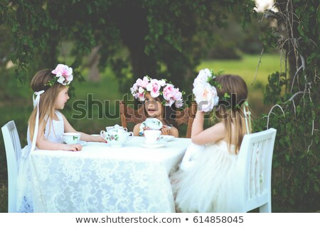kids at tea party Stock photo © photography33