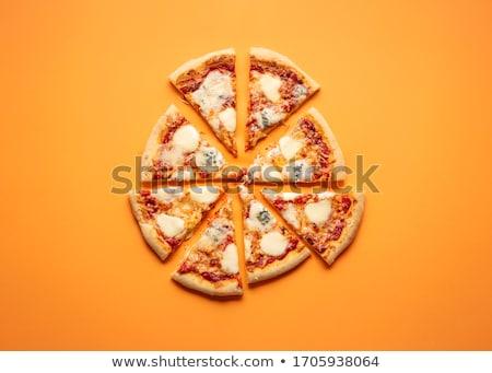 pizza · fırın · geleneksel · İtalyan · duvarcılık · ahşap - stok fotoğraf © asturianu