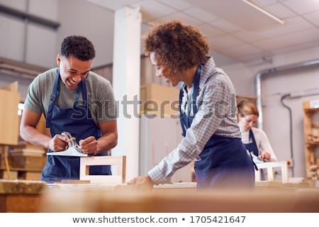 Female woodworker Stock photo © photography33