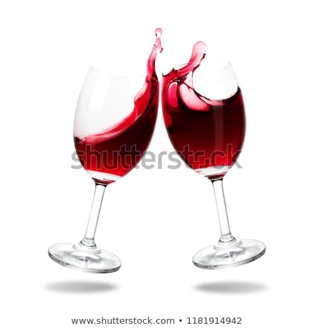 Wine in glasses. Isolated on white background  Stock photo © experimental