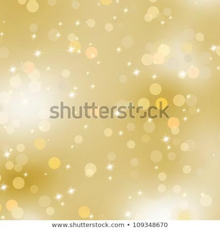 vidám · karácsony · arany · csillámlás · keret · arany - stock fotó © beholdereye