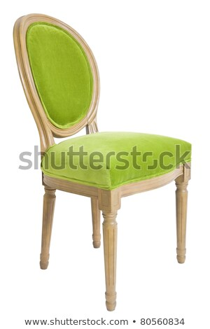 isolated green steel and metal chair stock photo © shutswis