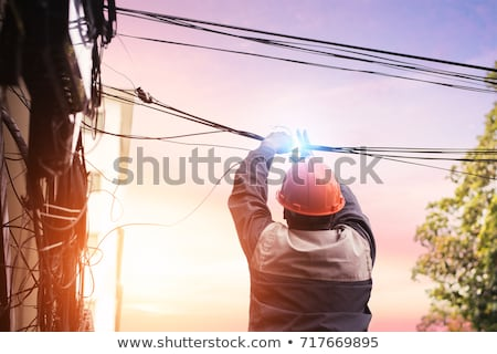 worker cutting wires stock photo © photography33